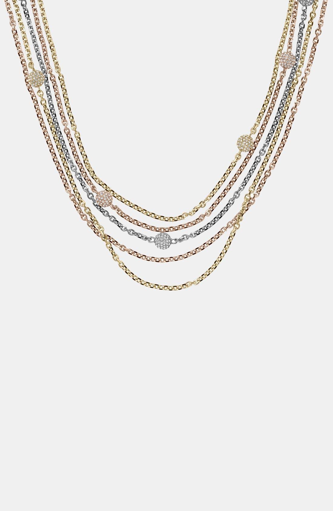Alternate Image 2  - Michael Kors 'Fireball' Station Multistrand Necklace
