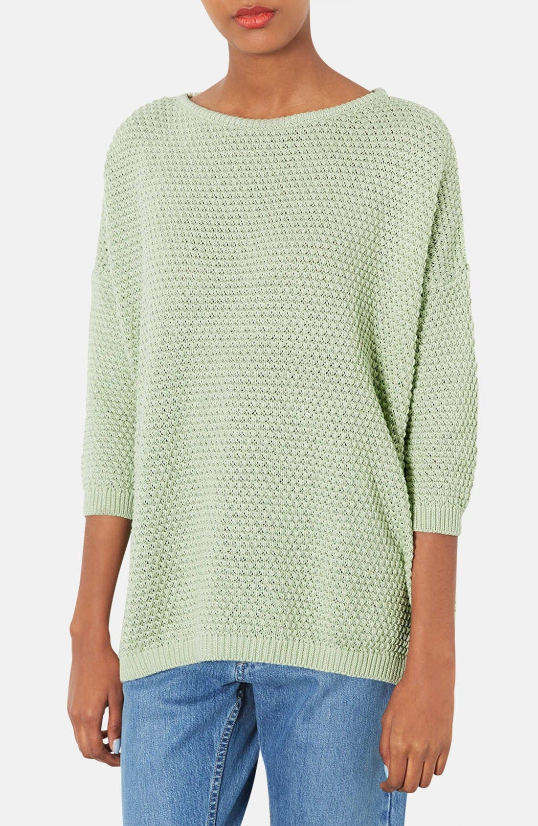 Alternate Image 1 Selected - Topshop Tulip Stitch Sweater