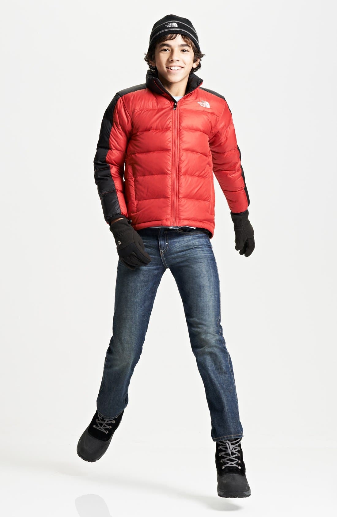 Alternate Image 1 Selected - The North Face Jacket & Tucker + Tate Jeans (Big Boys)