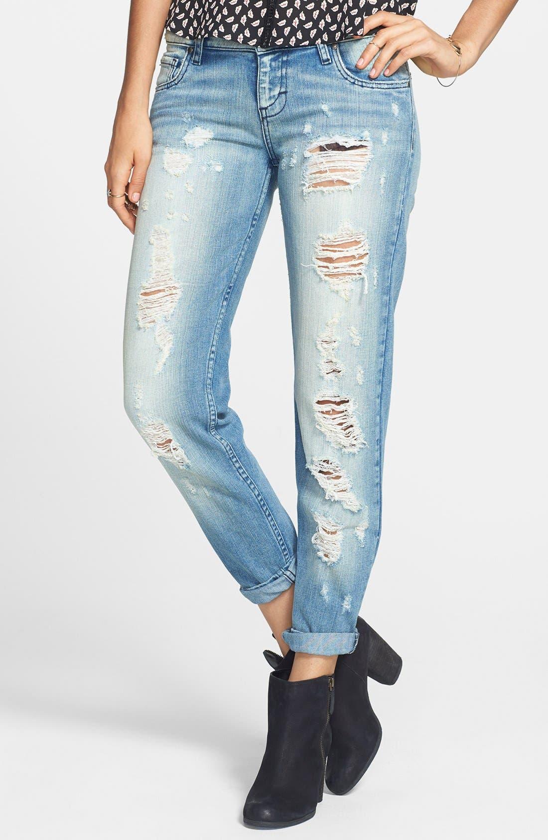 Main Image - STS Blue 'Joey' Destroyed Boyfriend Jeans