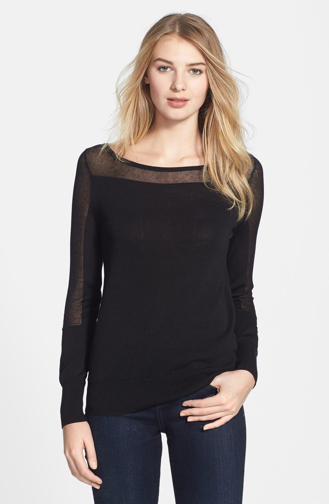 Alternate Image 1 Selected - Halogen® Slash Neck Sweater