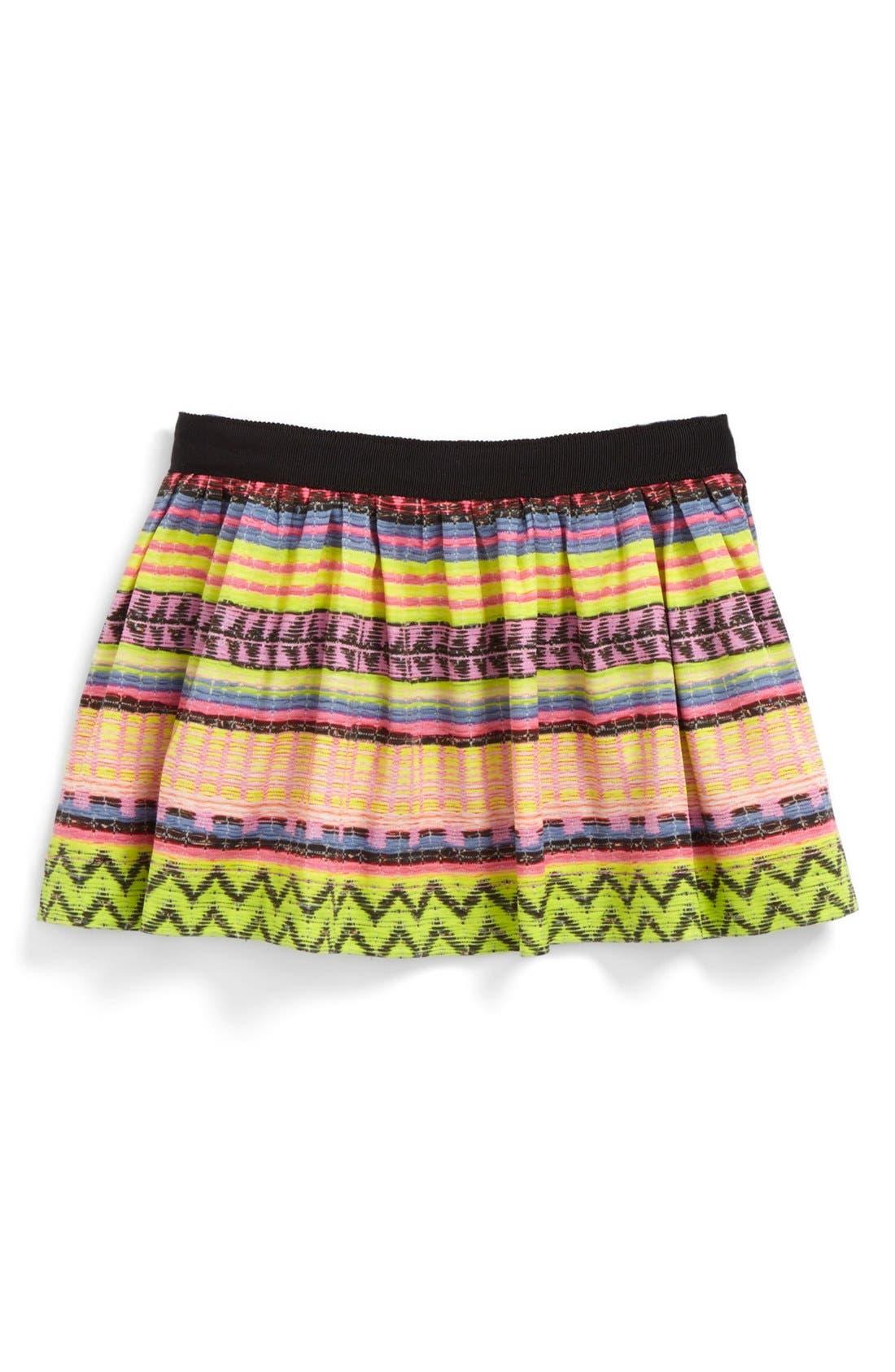 "Main Image - Milly Minis ""Raffia' Gathered Skirt (Toddler Girls, Little Girls & Big Girls)"
