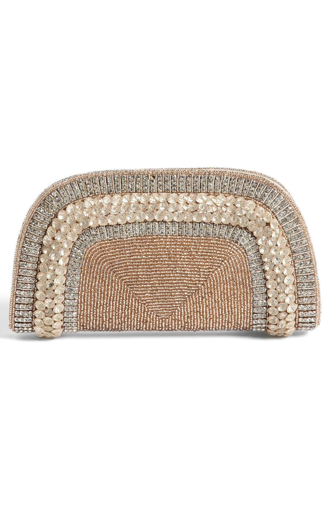 Alternate Image 4  - Micky London Handbags Embellished Fan Clutch