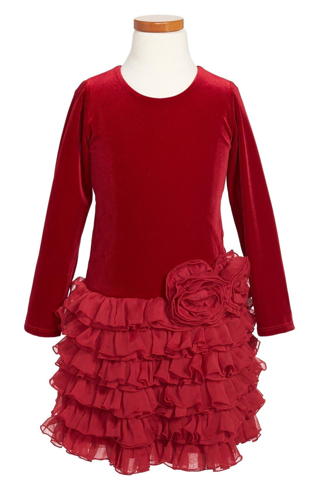 Main Image - Isobella & Chloe Drop Waist Ruffle Dress (Little Girls & Big Girls)
