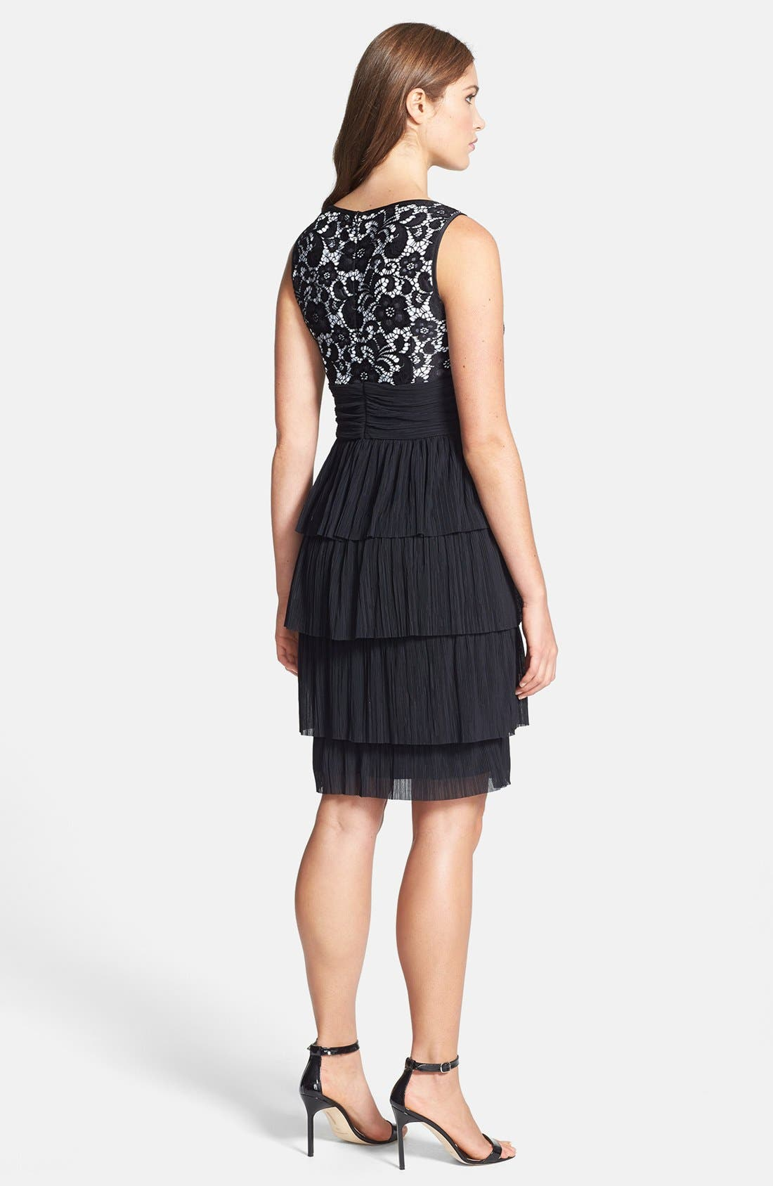 Alternate Image 2  - Maggy London 'Plume' Lace Bodice Tiered Dress