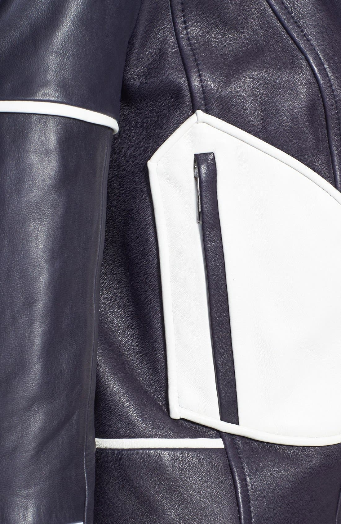 Alternate Image 3  - Diane von Furstenberg 'Kenzie' Leather Moto Jacket