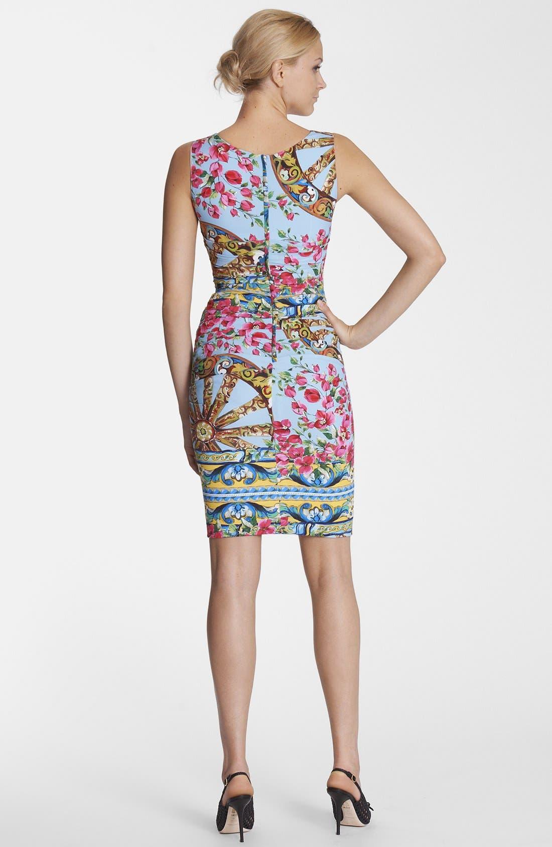 Alternate Image 2  - Dolce&Gabbana Bougainvillea Print Dress