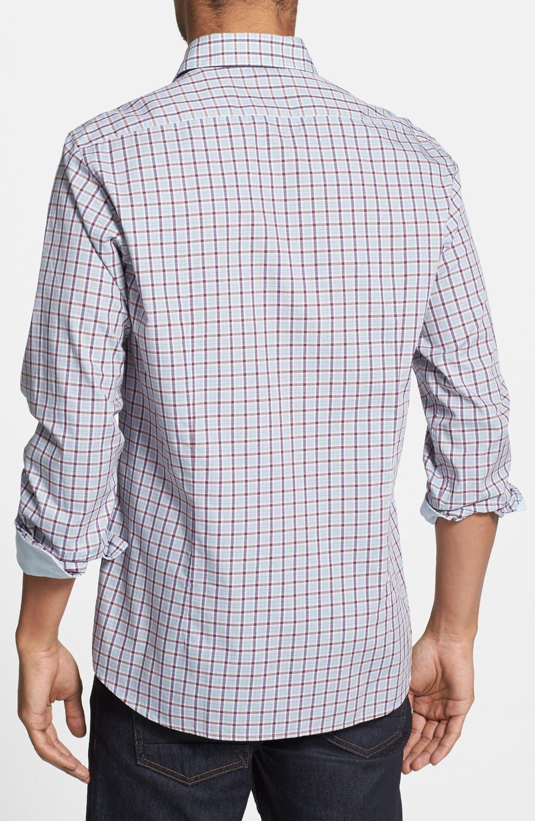 Alternate Image 2  - BOSS HUGO BOSS 'Obert' Regular Fit Plaid Sport Shirt