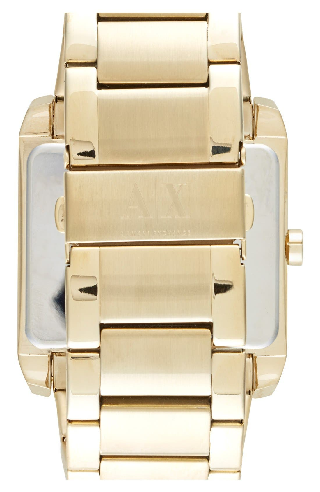 Alternate Image 2  - AX Armani Exchange Rectangular Bracelet Watch
