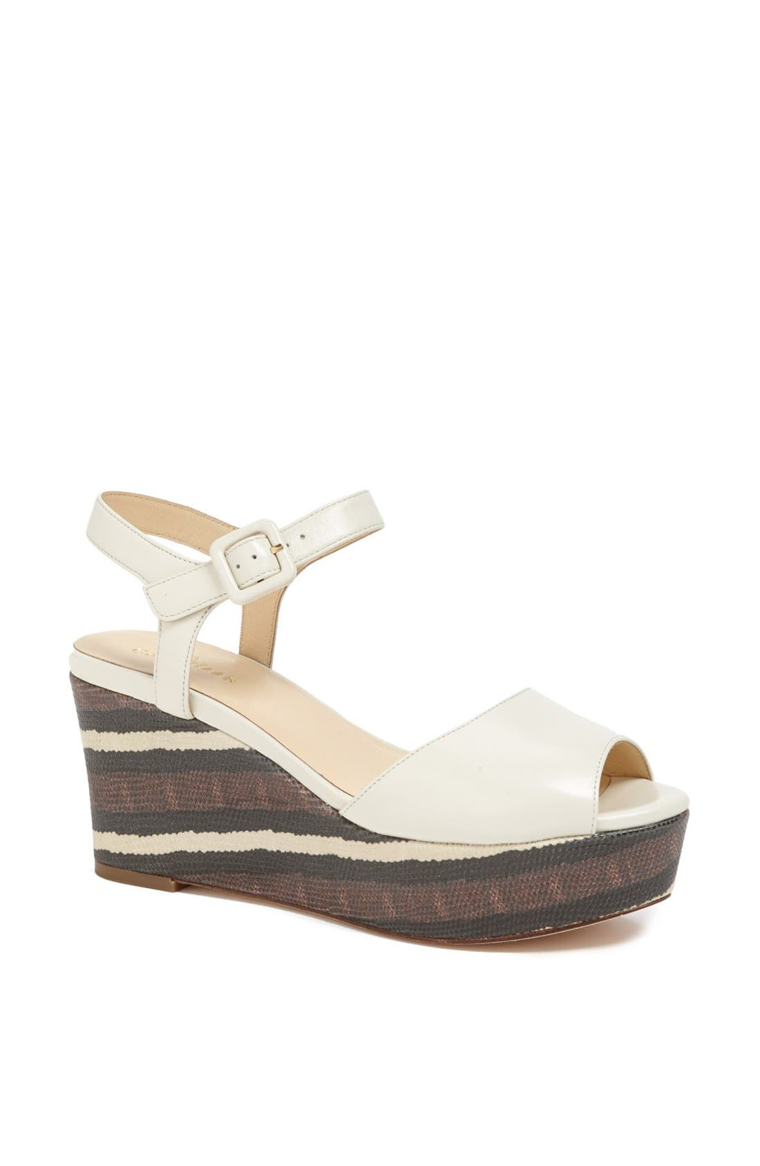 Alternate Image 1 Selected - Cole Haan 'Gillian' Platform Wedge Sandal