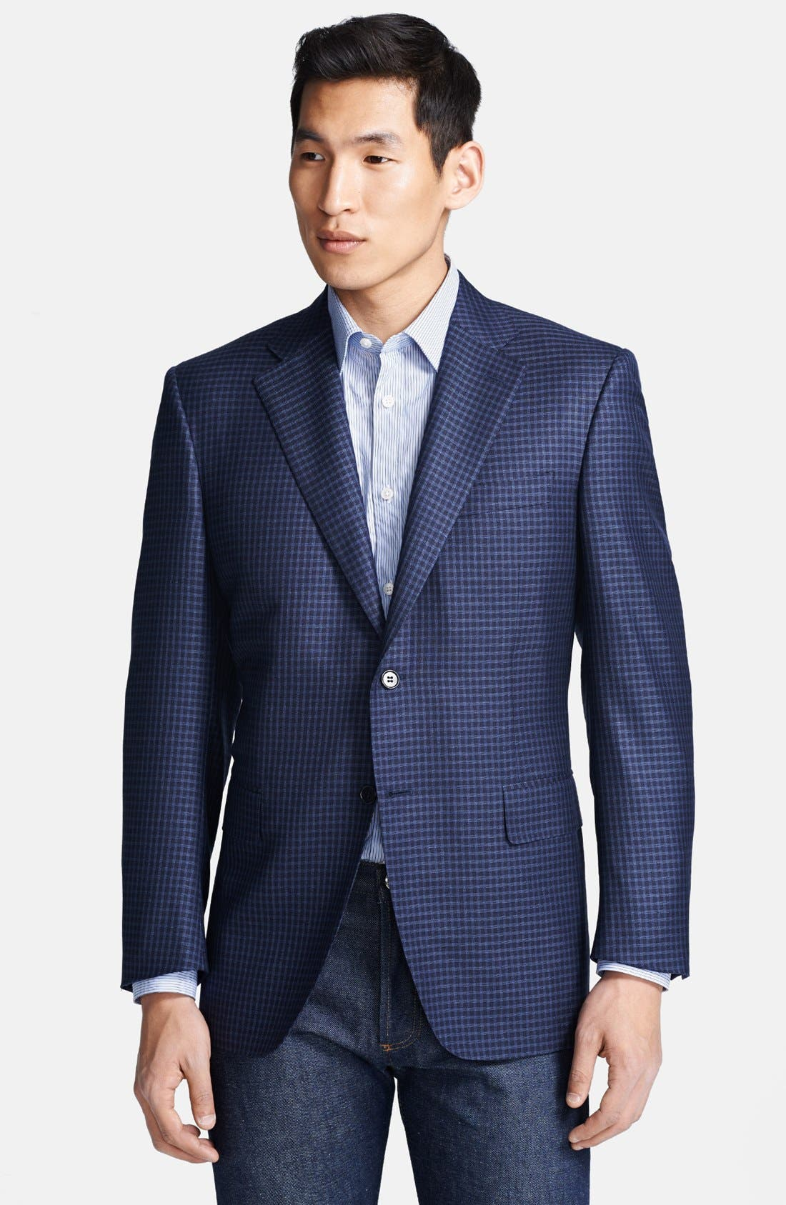 Alternate Image 1 Selected - Canali Classic Fit Check Sportcoat