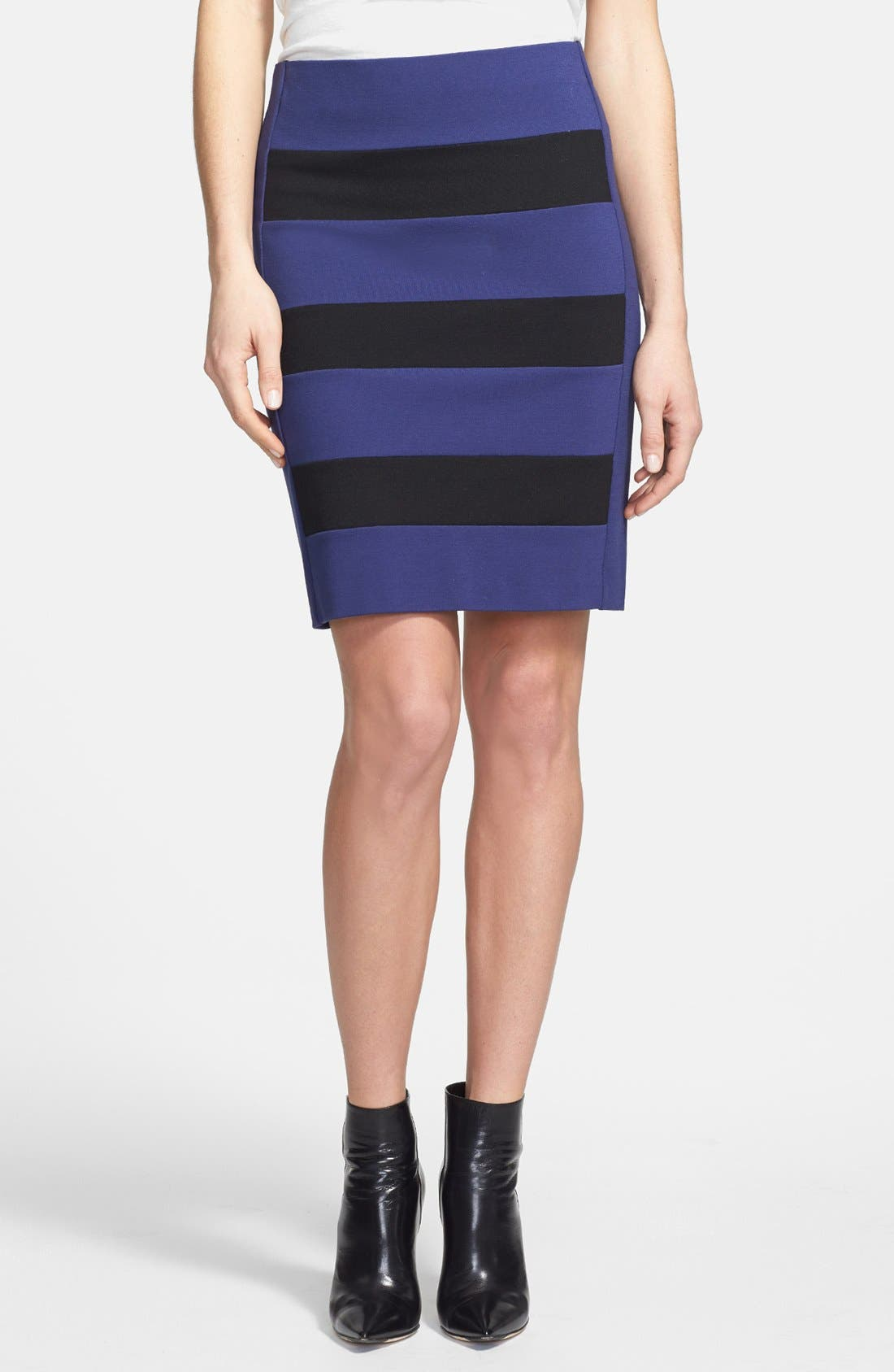Main Image - DKNYC Colorblock Stretch Knit Skirt