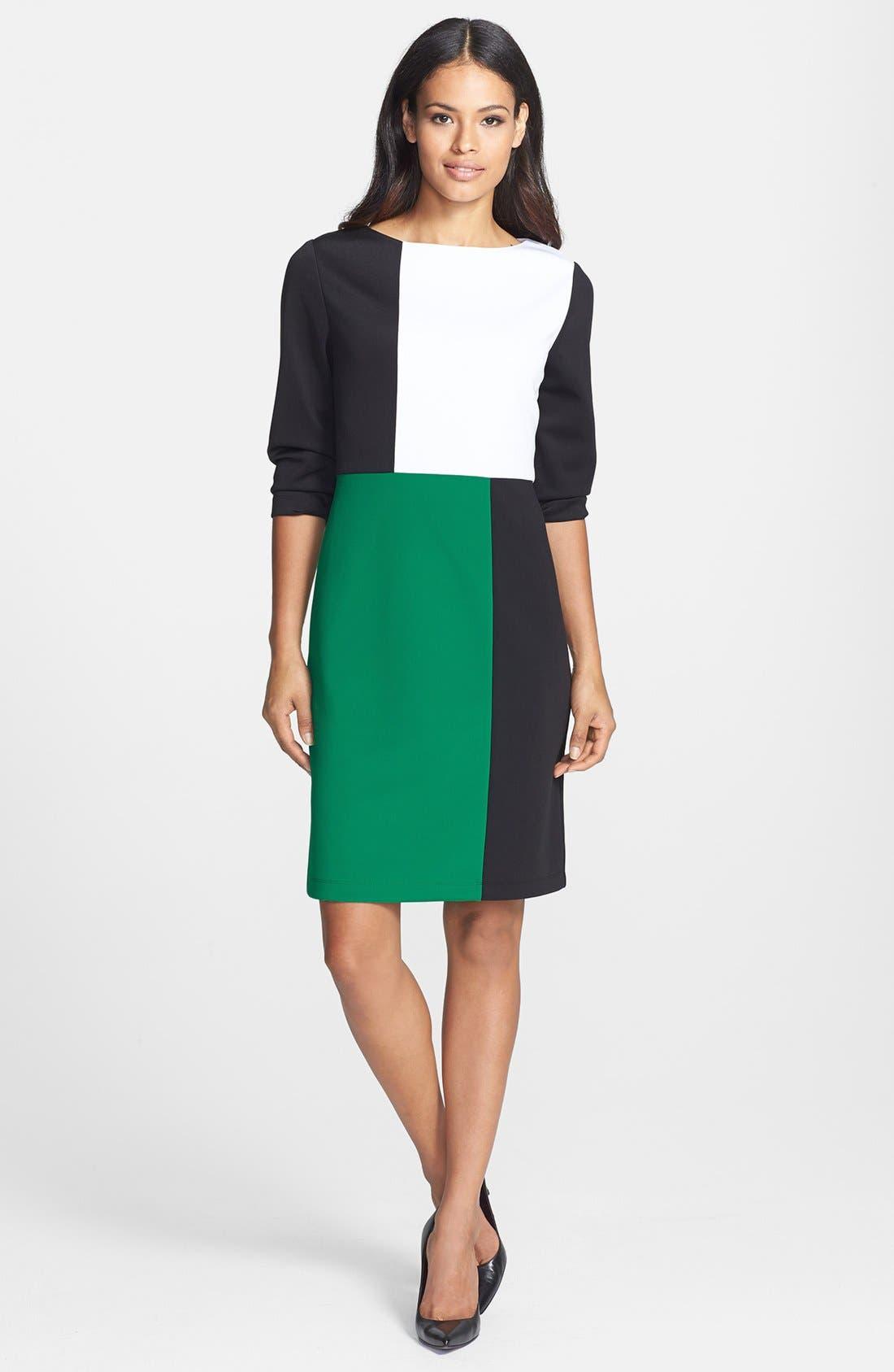 Alternate Image 2  - Isaac Mizrahi New York Colorblock Shift Dress
