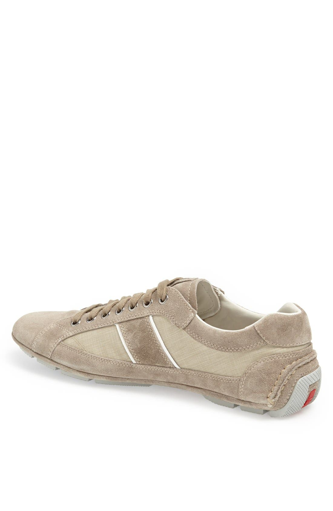 Alternate Image 2  - Prada Low Profile Suede and Nylon Sneaker