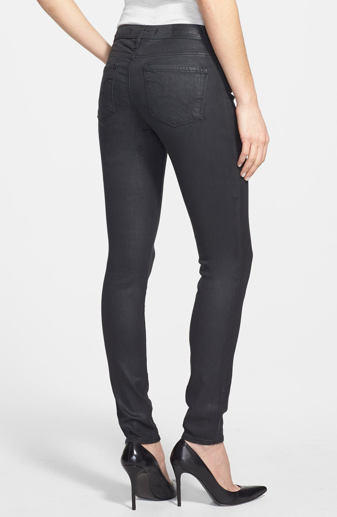 Alternate Image 2  - Big Star 'Alex' Skinny Jeans (Gotham) (Petite)