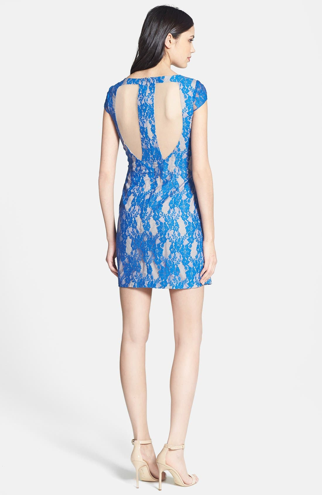Alternate Image 3  - Hailey by Adrianna Papell Cutout Lace Sheath Dress