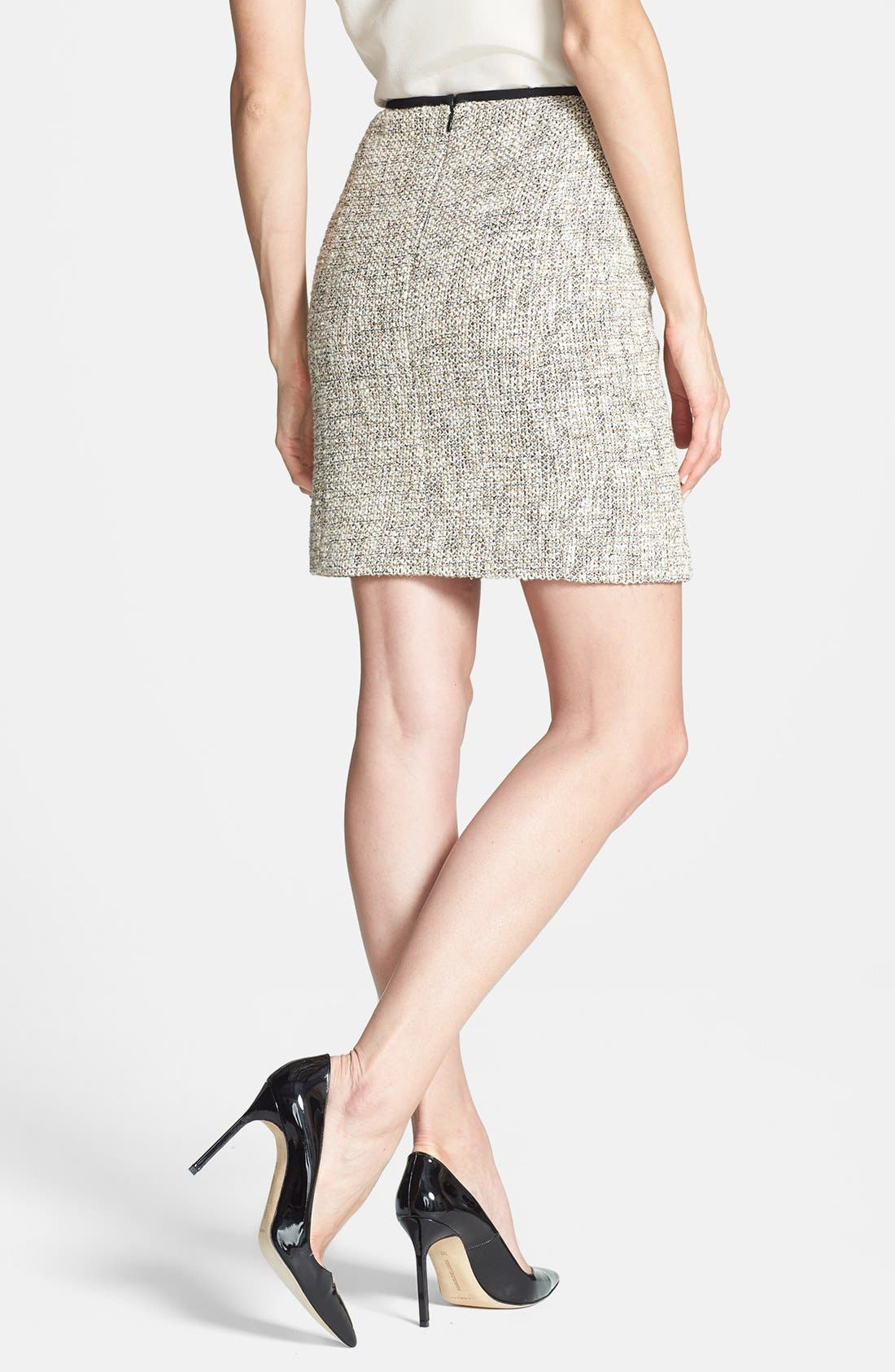 Alternate Image 2  - Vince Camuto Zip Pocket Tweed Miniskirt