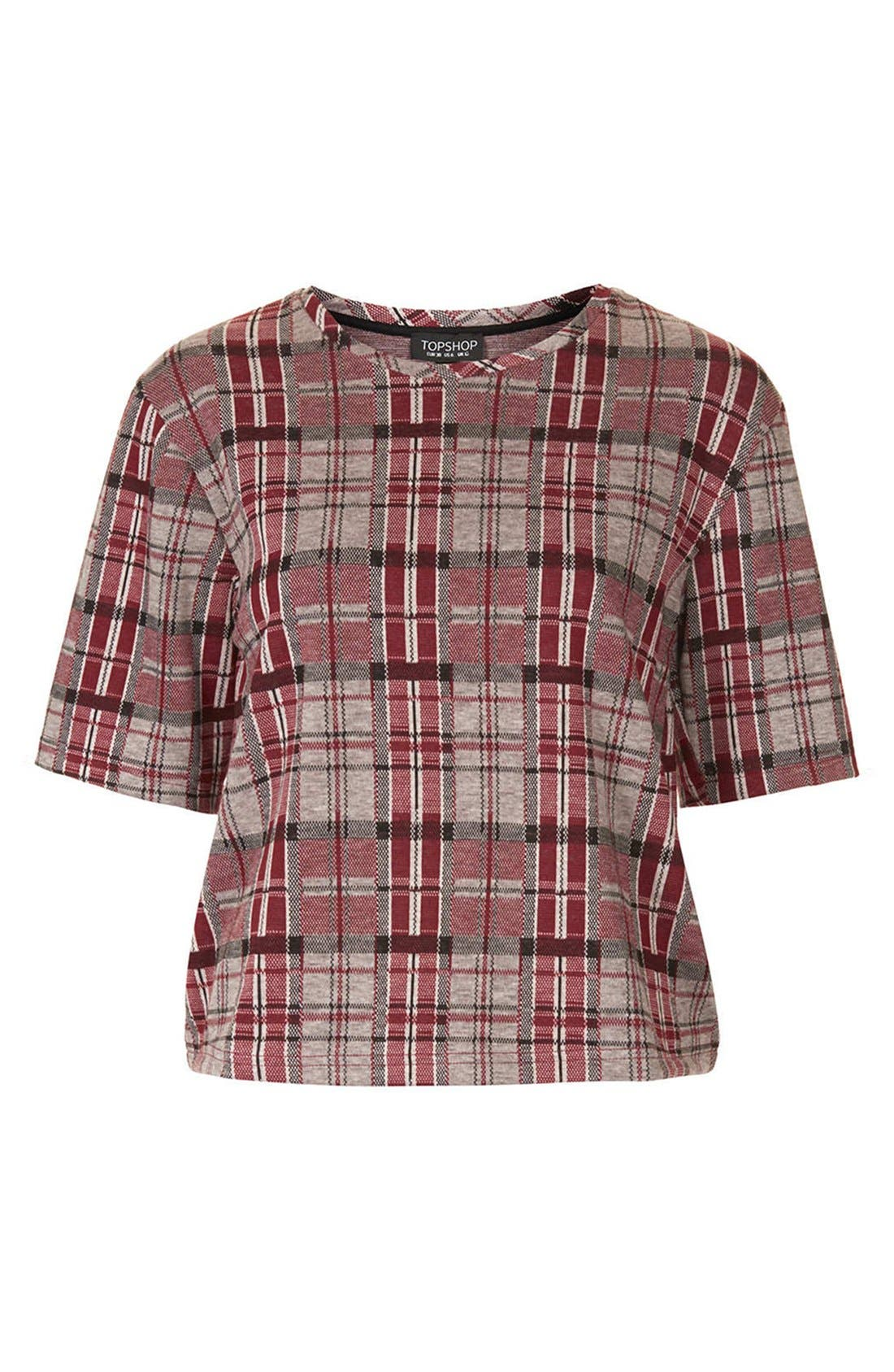 Alternate Image 3  - Topshop Checkered Jacquard Tee