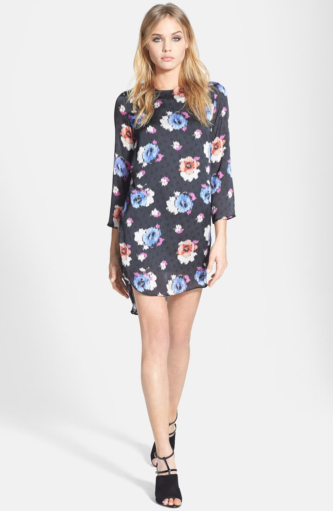 Main Image - Topshop Floral Tunic Dress
