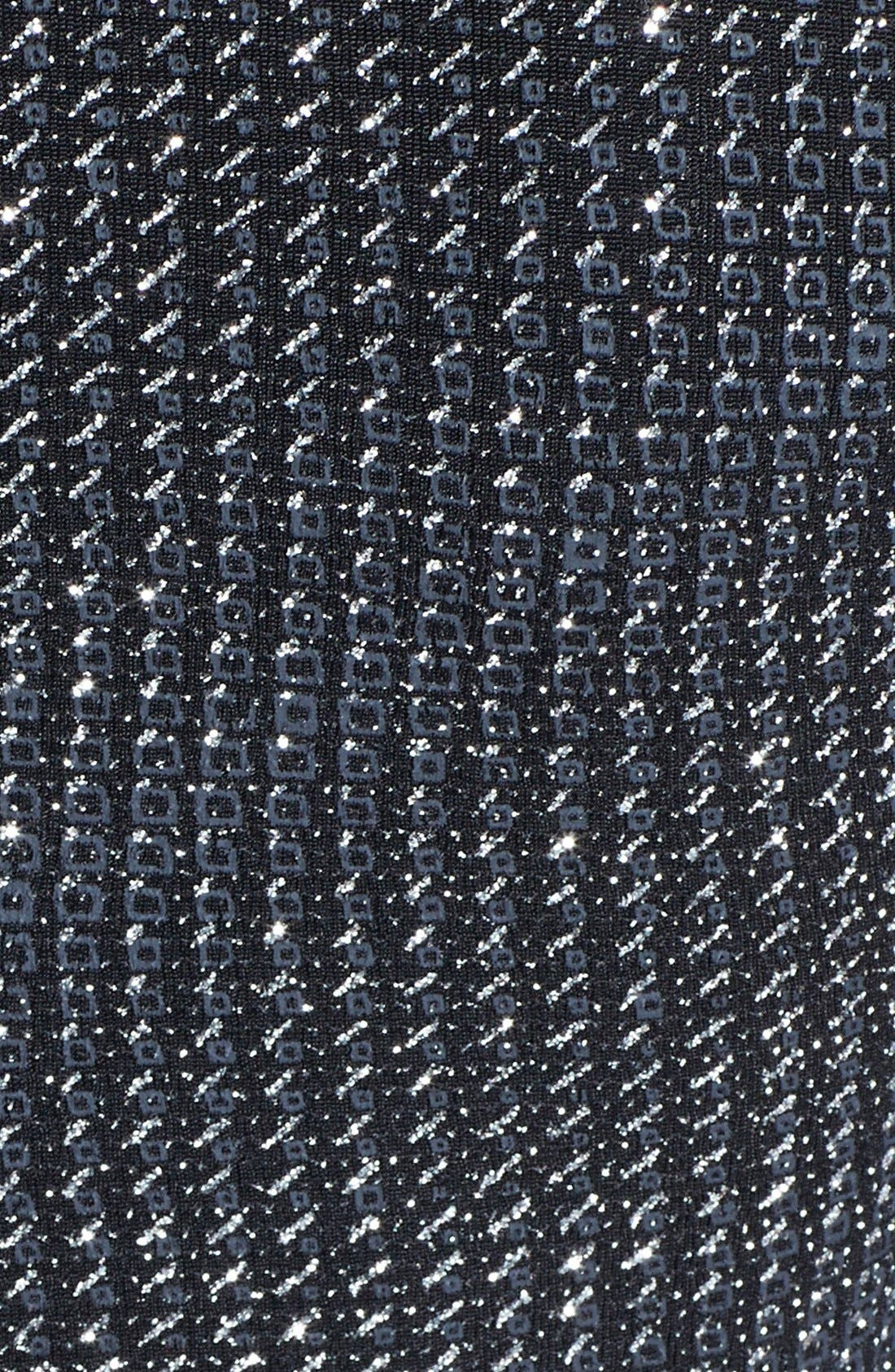 Alternate Image 3  - Topshop Cutout Metallic Jersey Midi Dress