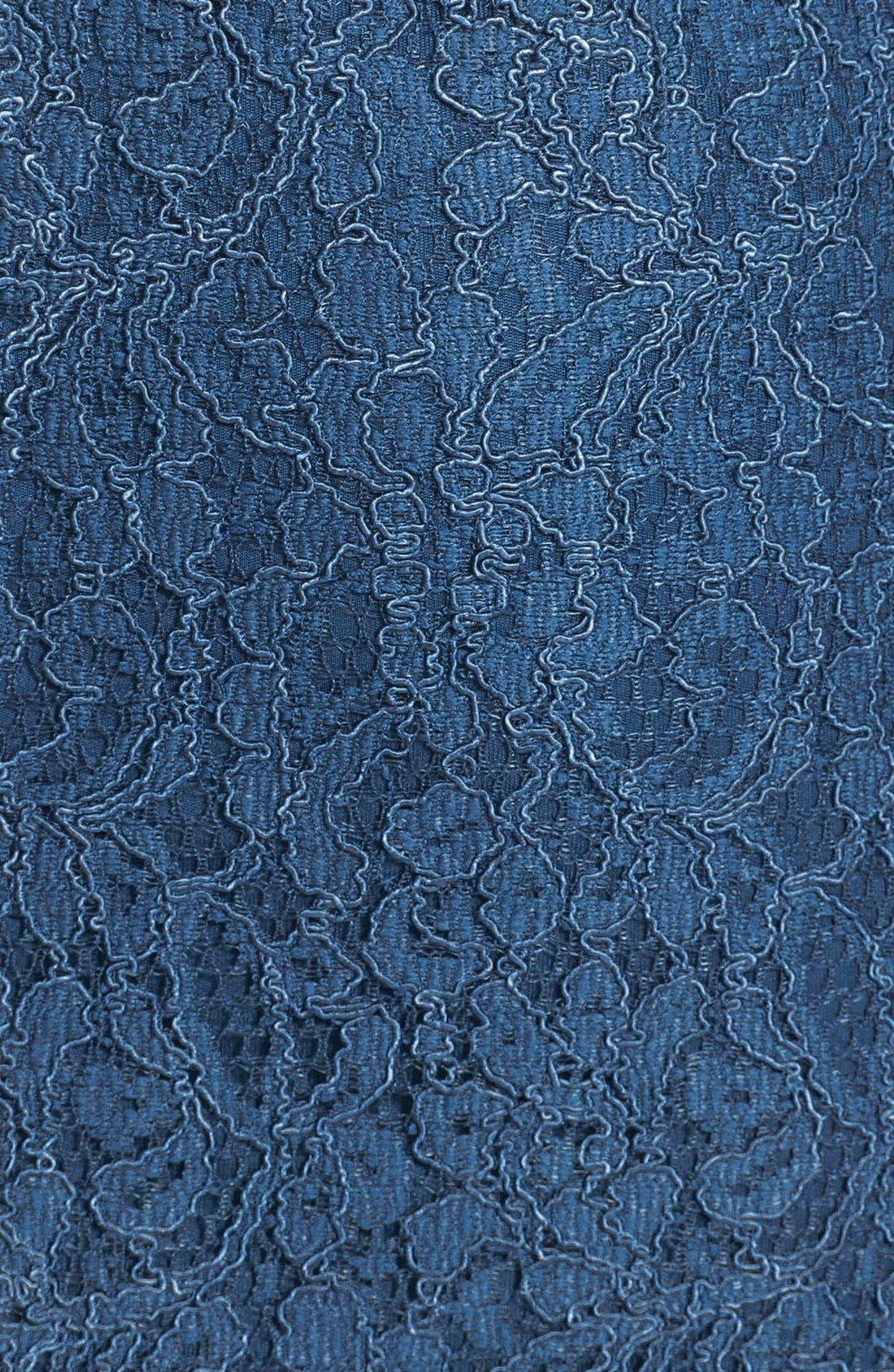 Alternate Image 3  - Adrianna Papell Lace Overlay Sheath Dress (Regular & Petite)