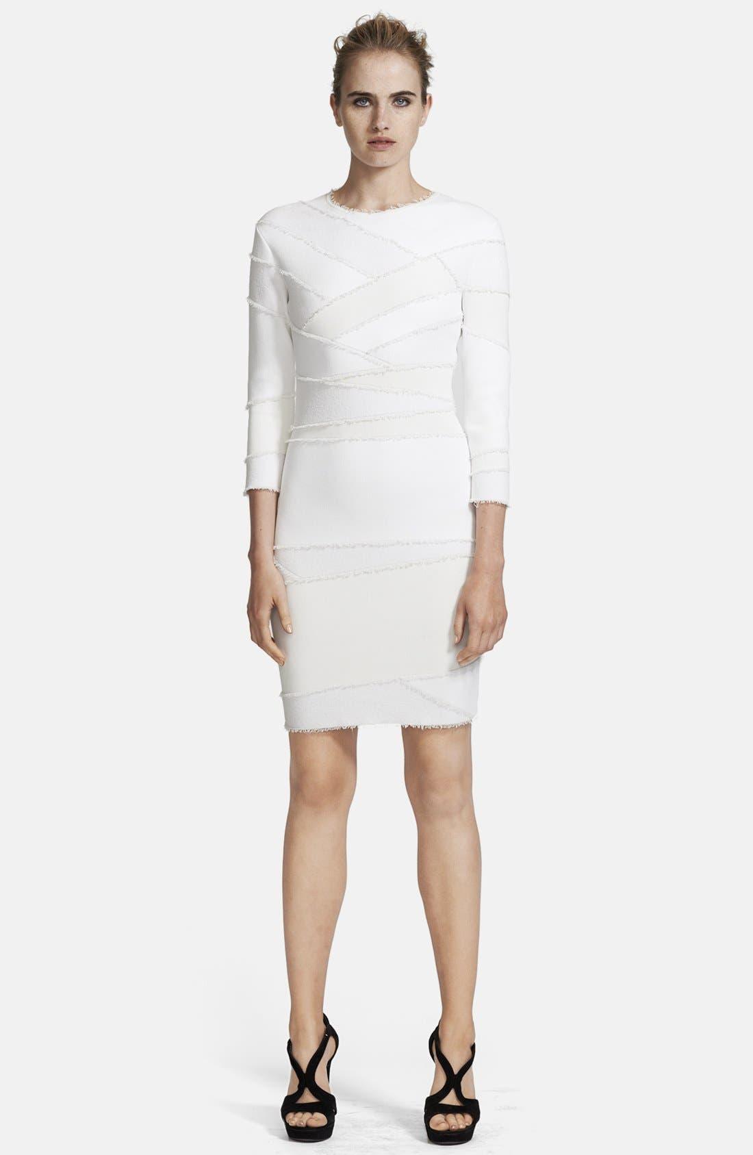 Alternate Image 1 Selected - Alexander McQueen Frayed Patchwork Dress