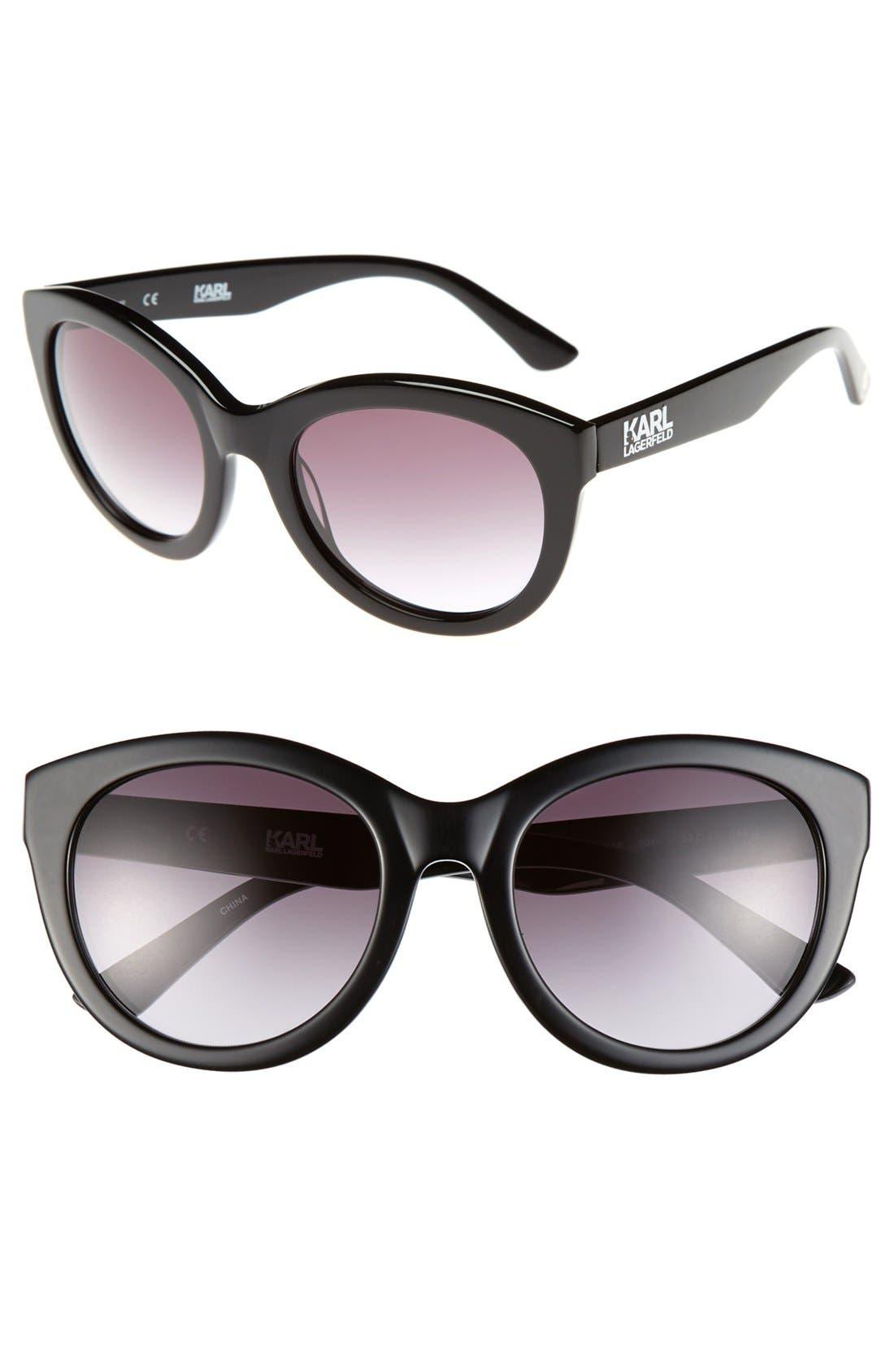 Main Image - Karl Lagerfeld 53mm Cat Eye Sunglasses