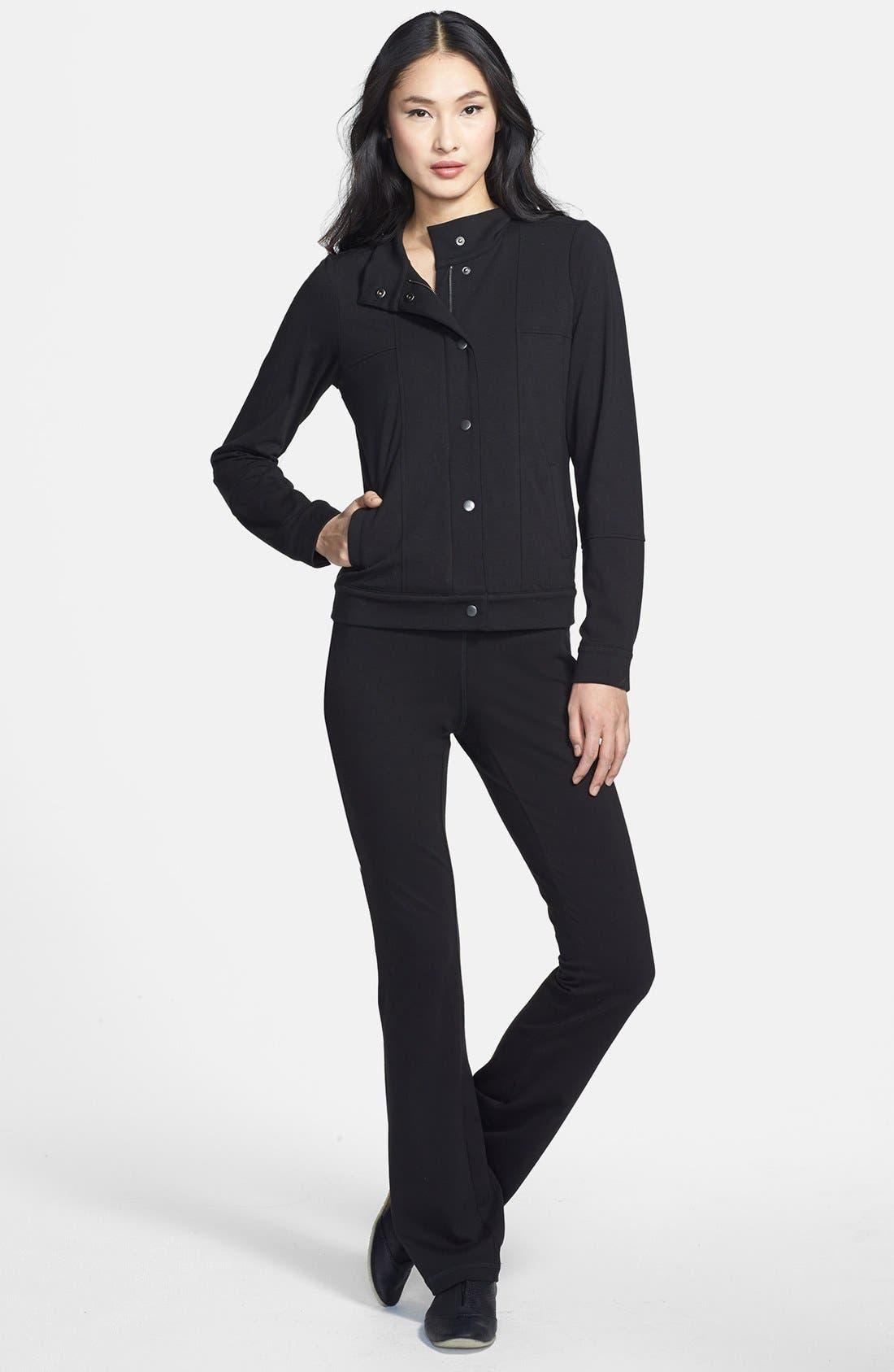 Alternate Image 4  - Eileen Fisher Organic Cotton Yoga Pants (Regular & Petite)