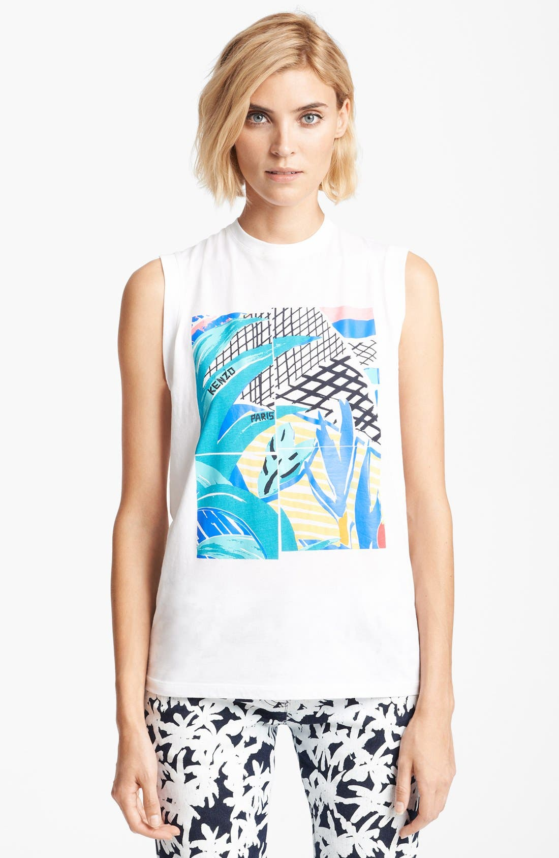 Alternate Image 1 Selected - KENZO Palm Print Muscle Tee