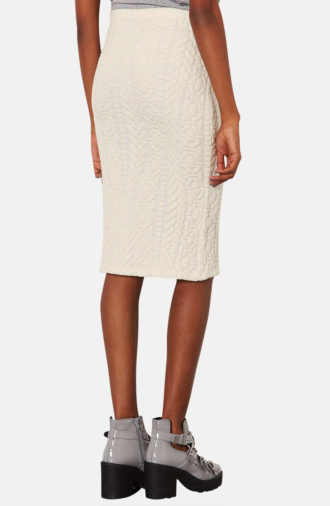 Alternate Image 2  - Topshop Jacquard Tube Skirt