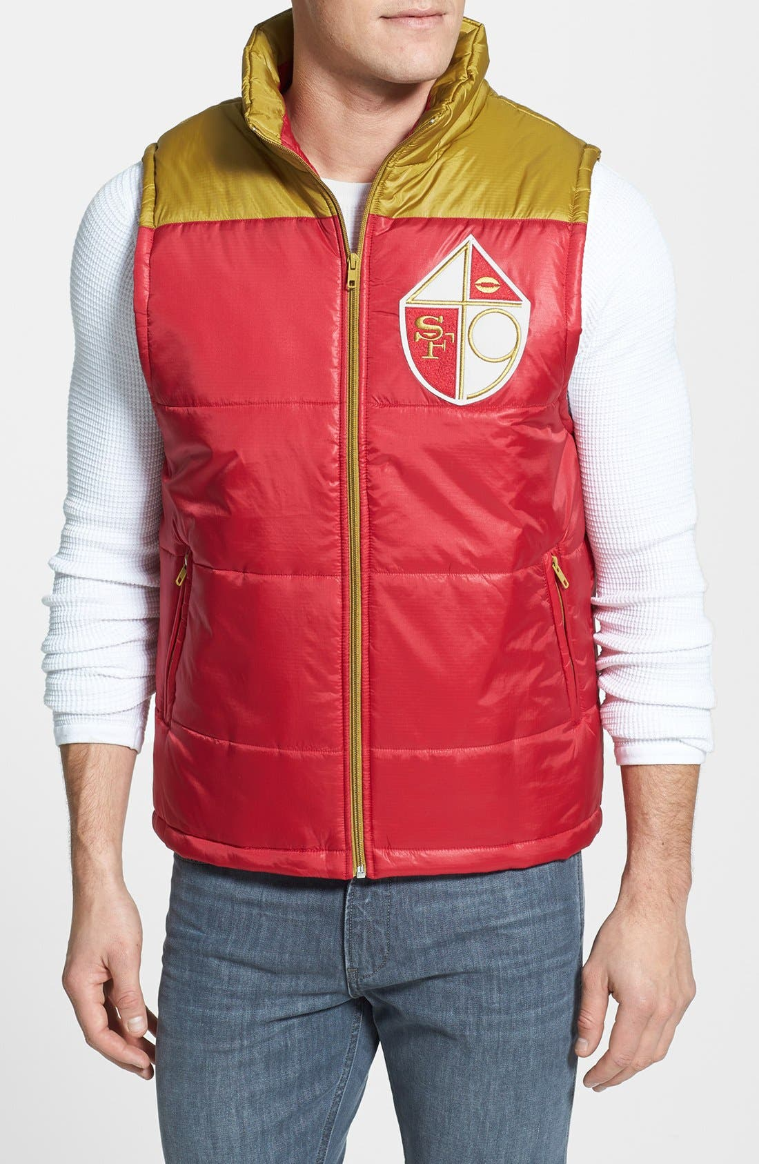 Alternate Image 1 Selected - Mitchell & Ness 'Winning Team - San Francisco 49ers' Quilted Vest