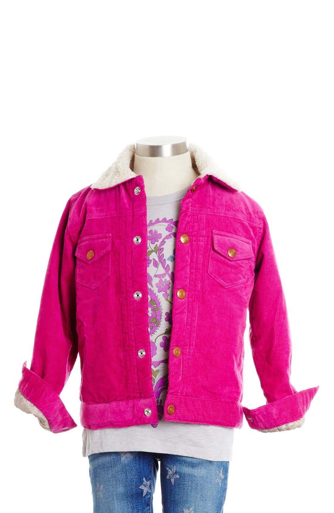 Main Image - Peek Faux Shearling Lined Corduroy Jacket (Toddler Girls, Little Girls & Big Girls)