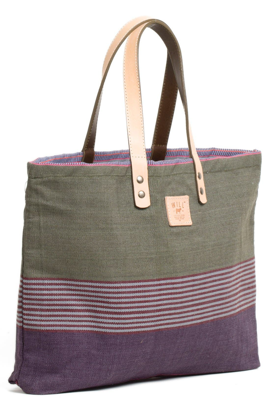 Main Image - Will Leather Goods 'Weaver's House' Reversible Canvas Tote