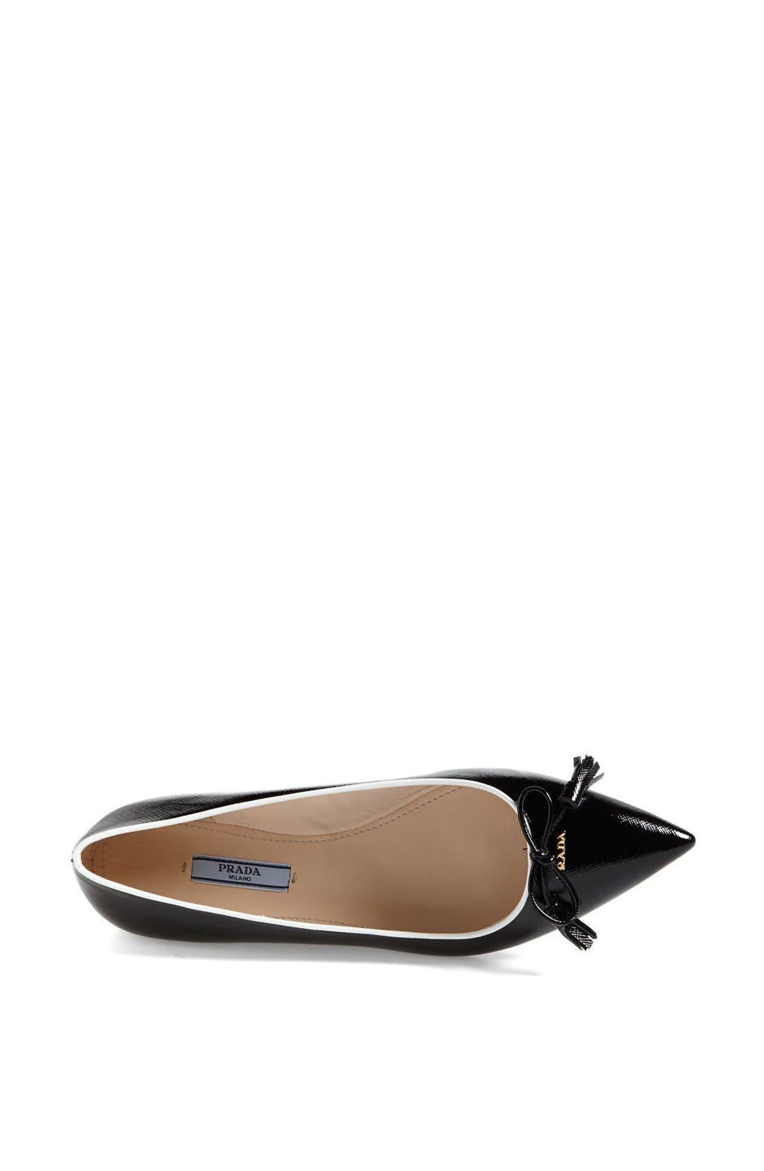 Alternate Image 3  - Prada Pointed Toe Logo Ballet Flat