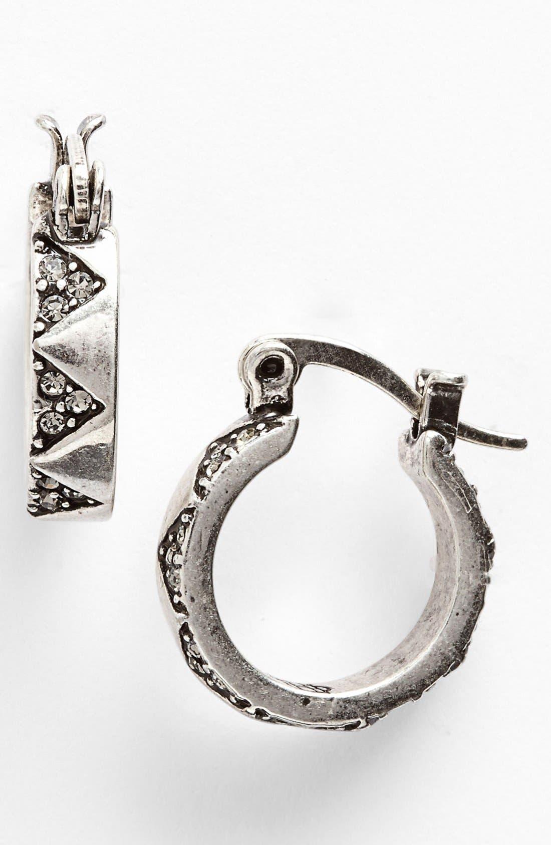 Alternate Image 1 Selected - House of Harlow 1960 Pavé Hoop Earrings