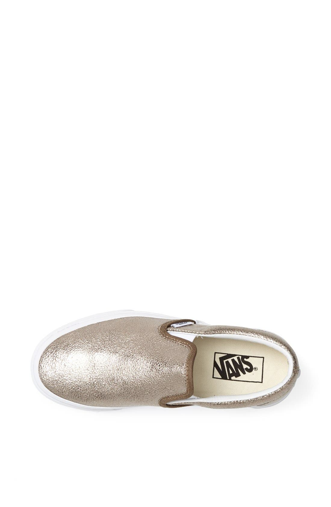 Alternate Image 3  - Vans Metallic Slip-On Sneaker (Women)