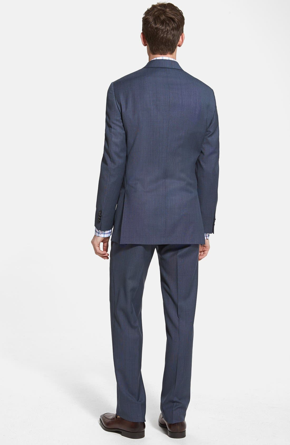 Alternate Image 2  - NY 2BTN SV FF CLASSIC FIT SUIT