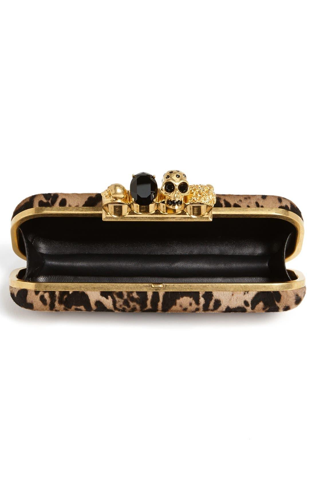 Alternate Image 2  - Alexander McQueen 'Knucklebox' Leopard Print Calf Hair Clutch
