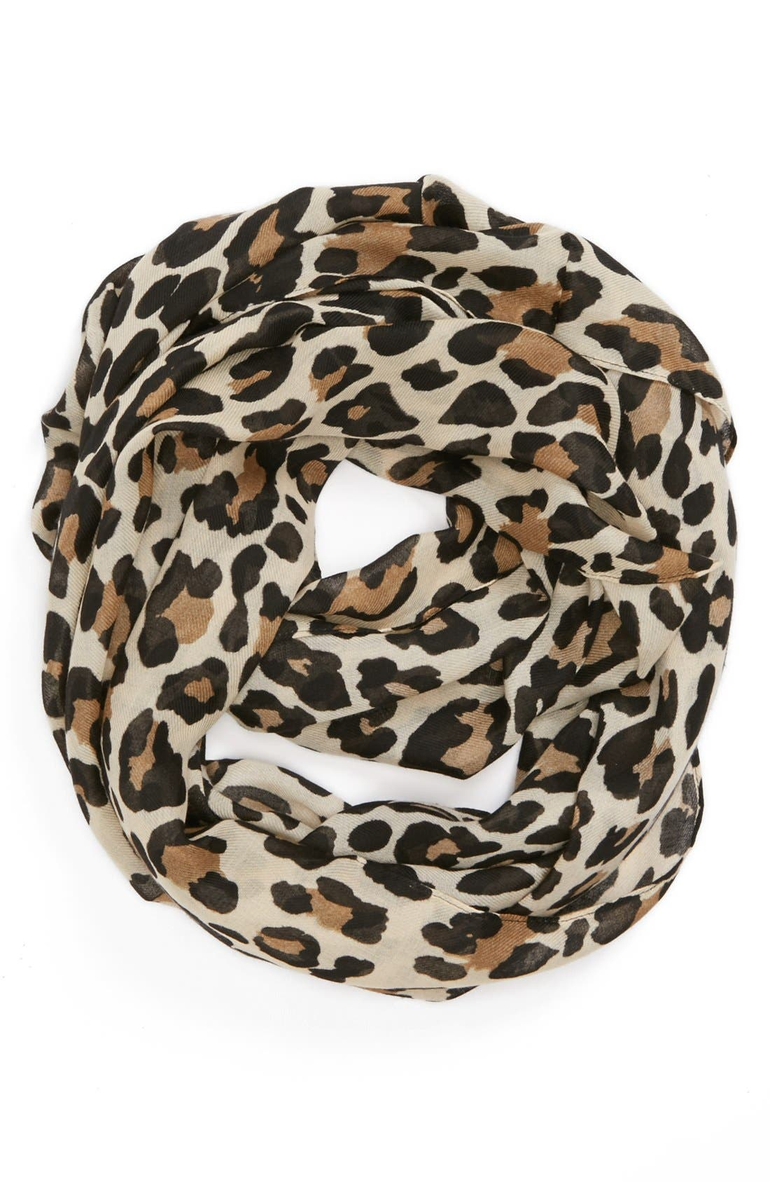 Alternate Image 1 Selected - Evelyn K Cheetah Print Infinity Scarf