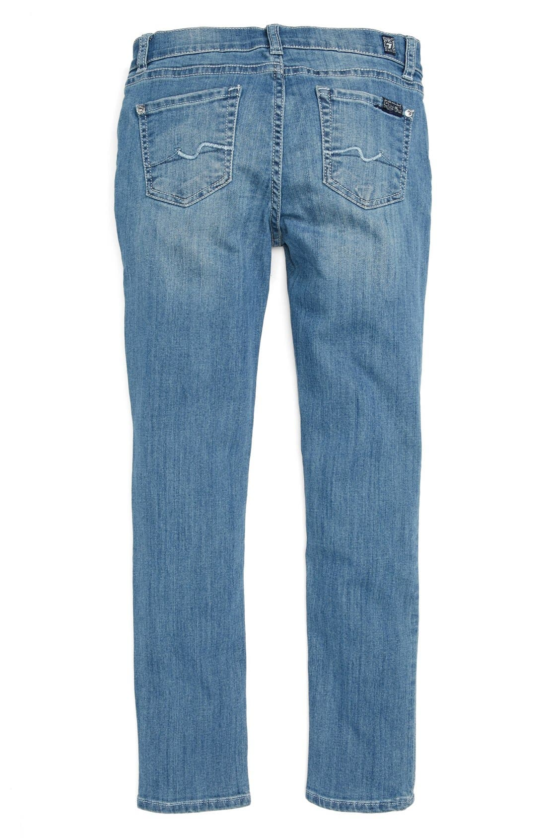 Alternate Image 1 Selected - 7 For All Mankind® 'The Skinny' Jeans (Big Girls)