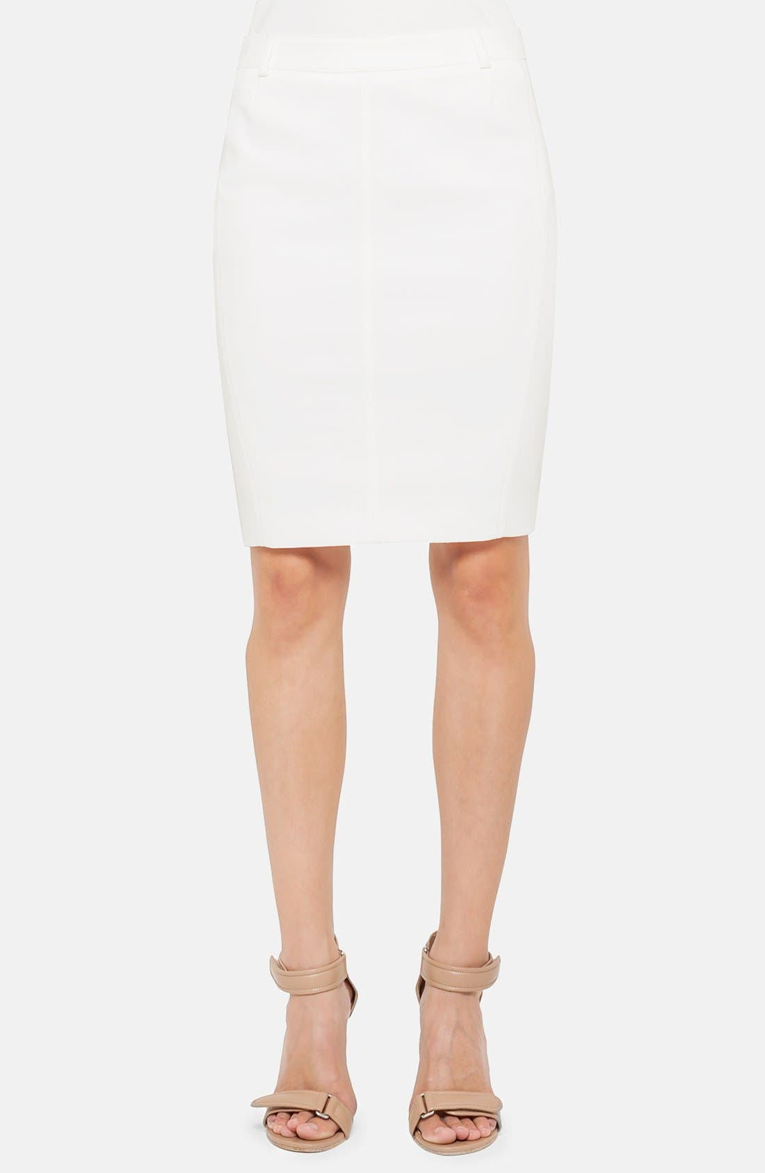 Alternate Image 1 Selected - Akris punto Techno Cotton Blend Pencil Skirt