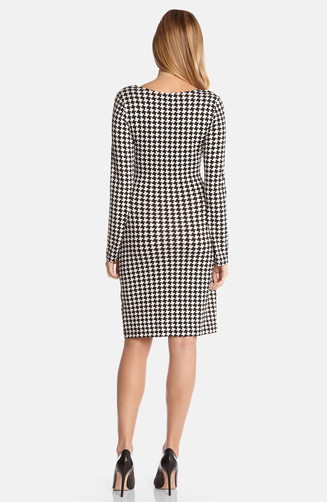 Alternate Image 2  - Karen Kane 'Checkmate' Faux Wrap Dress