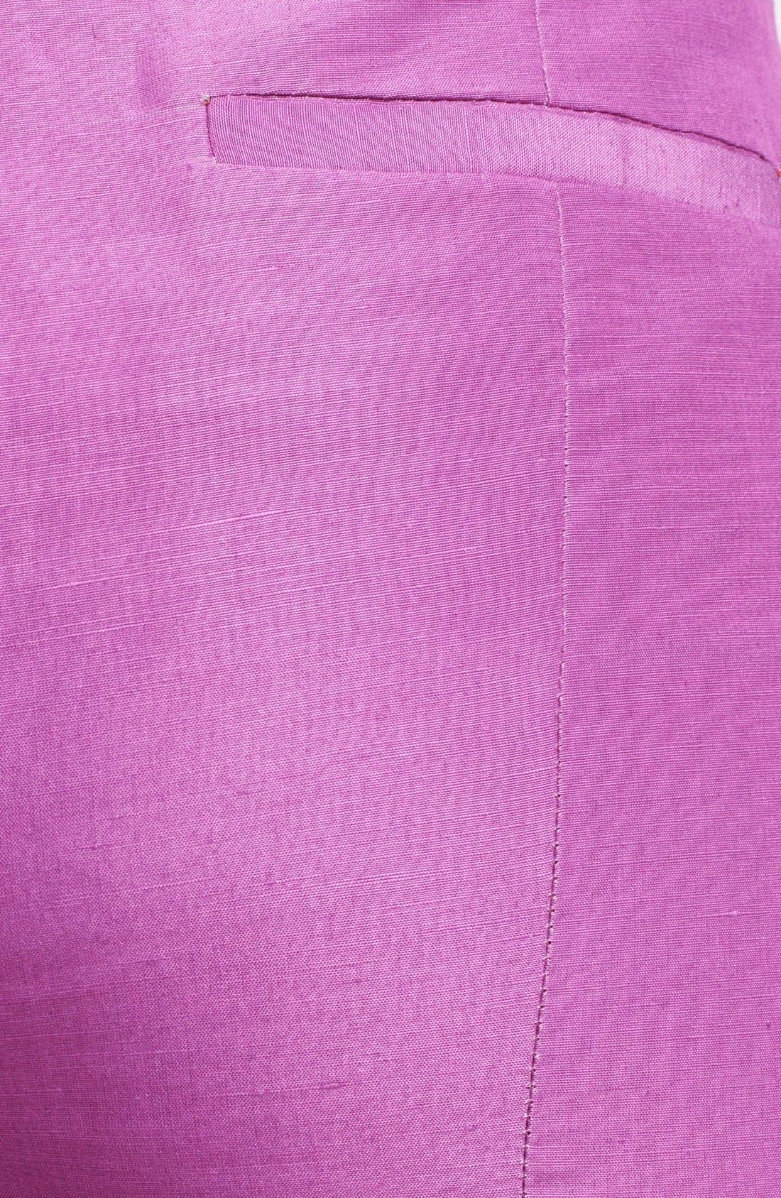 Alternate Image 3  - Armani Collezioni Silk & Linen Capri Pants
