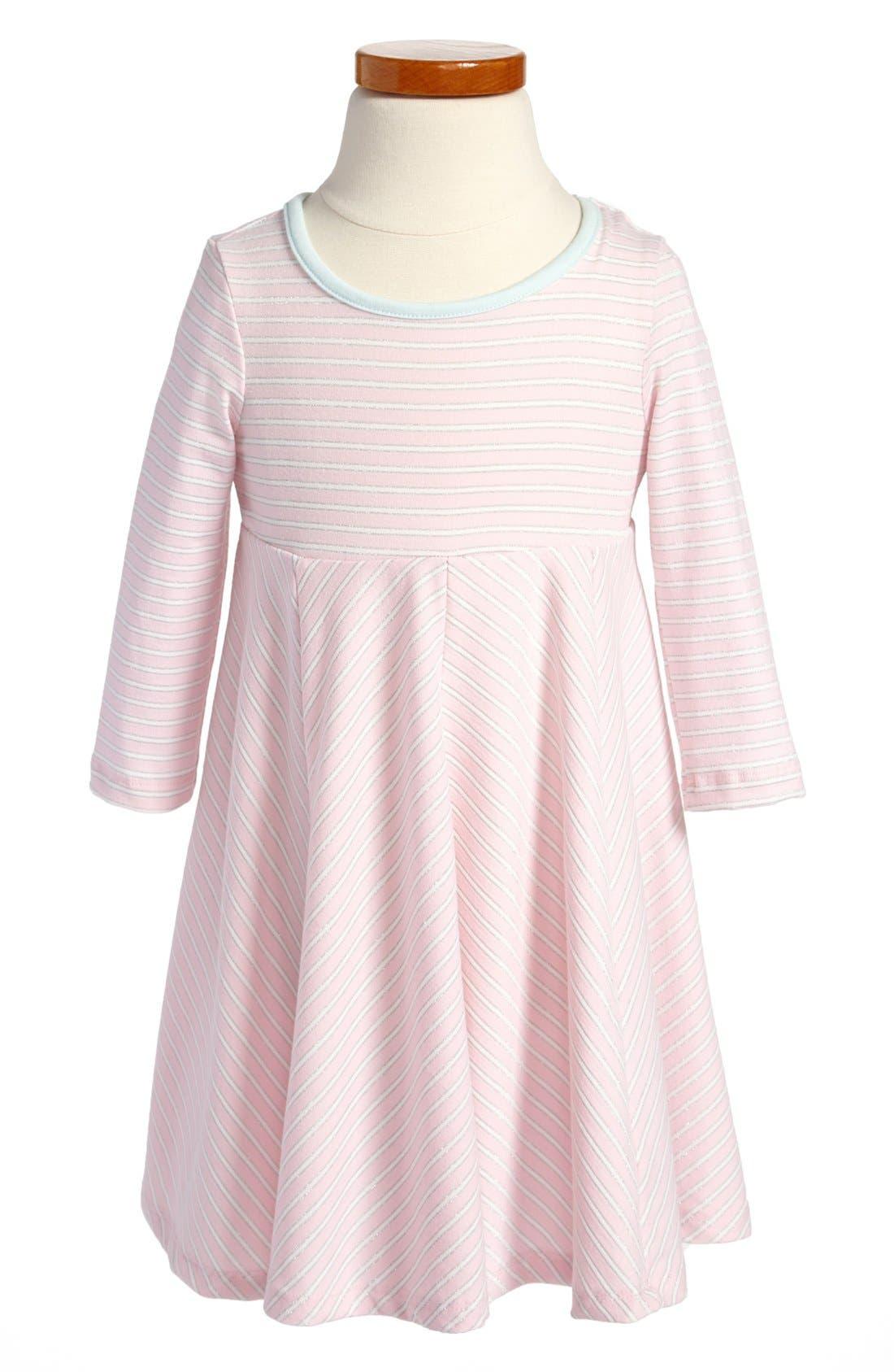 Main Image - Pippa & Julie Stripe Knit Dress (Toddler Girls)
