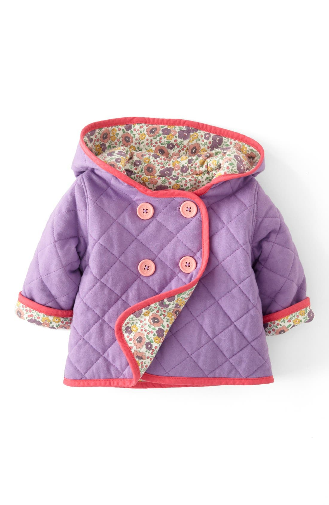 Alternate Image 1 Selected - Mini Boden Quilted Jersey Jacket (Baby Girls)