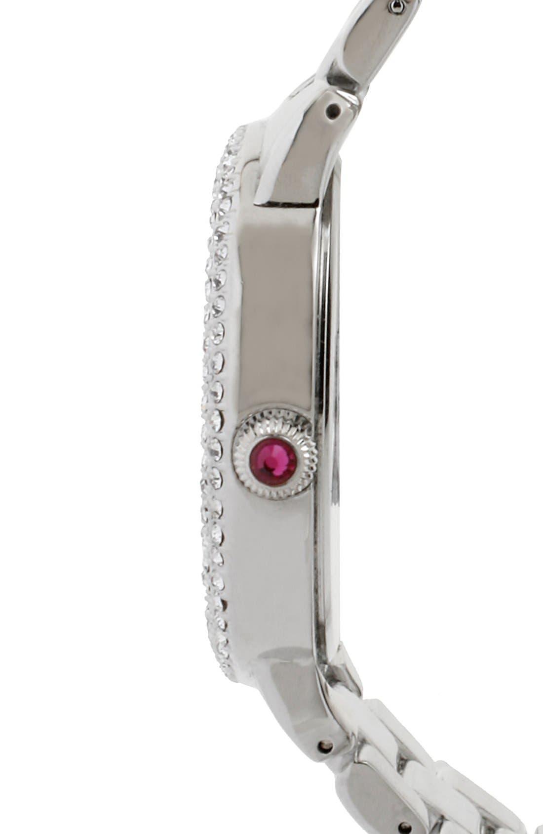 Alternate Image 3  - Betsey Johnson Pavé Bezel Bracelet Watch, 42mm