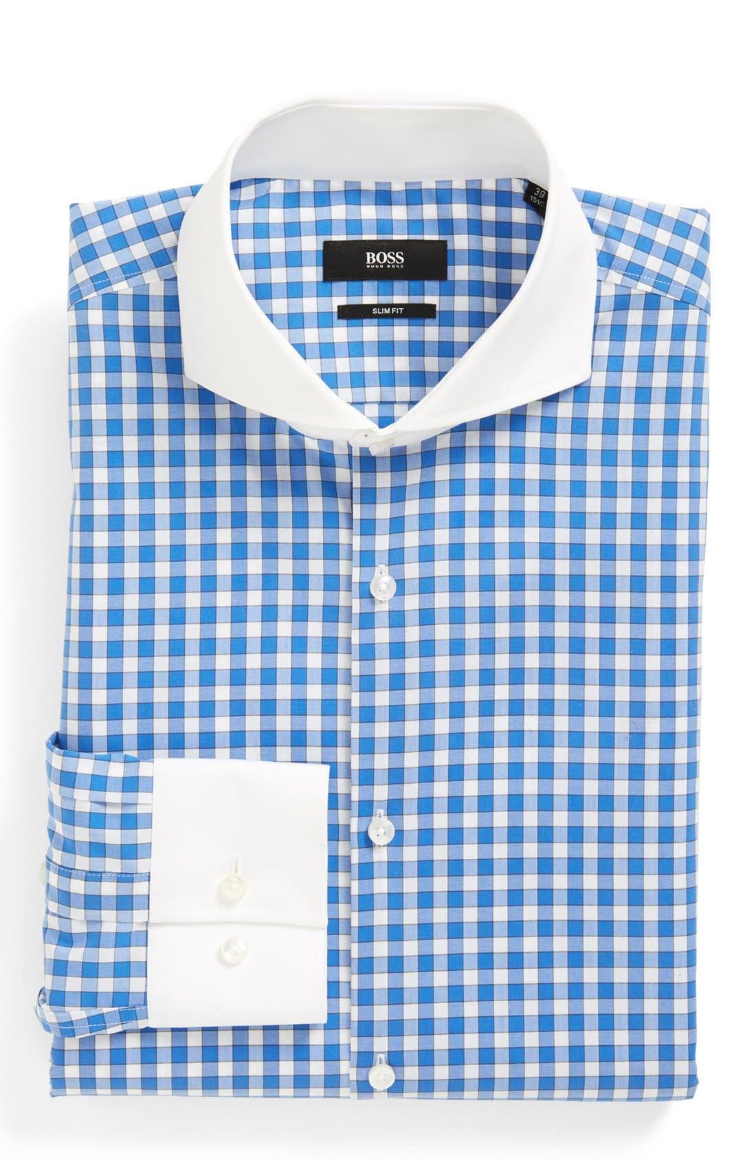 Alternate Image 1 Selected - BOSS HUGO BOSS 'Johan' Slim Fit Easy Iron Dress Shirt