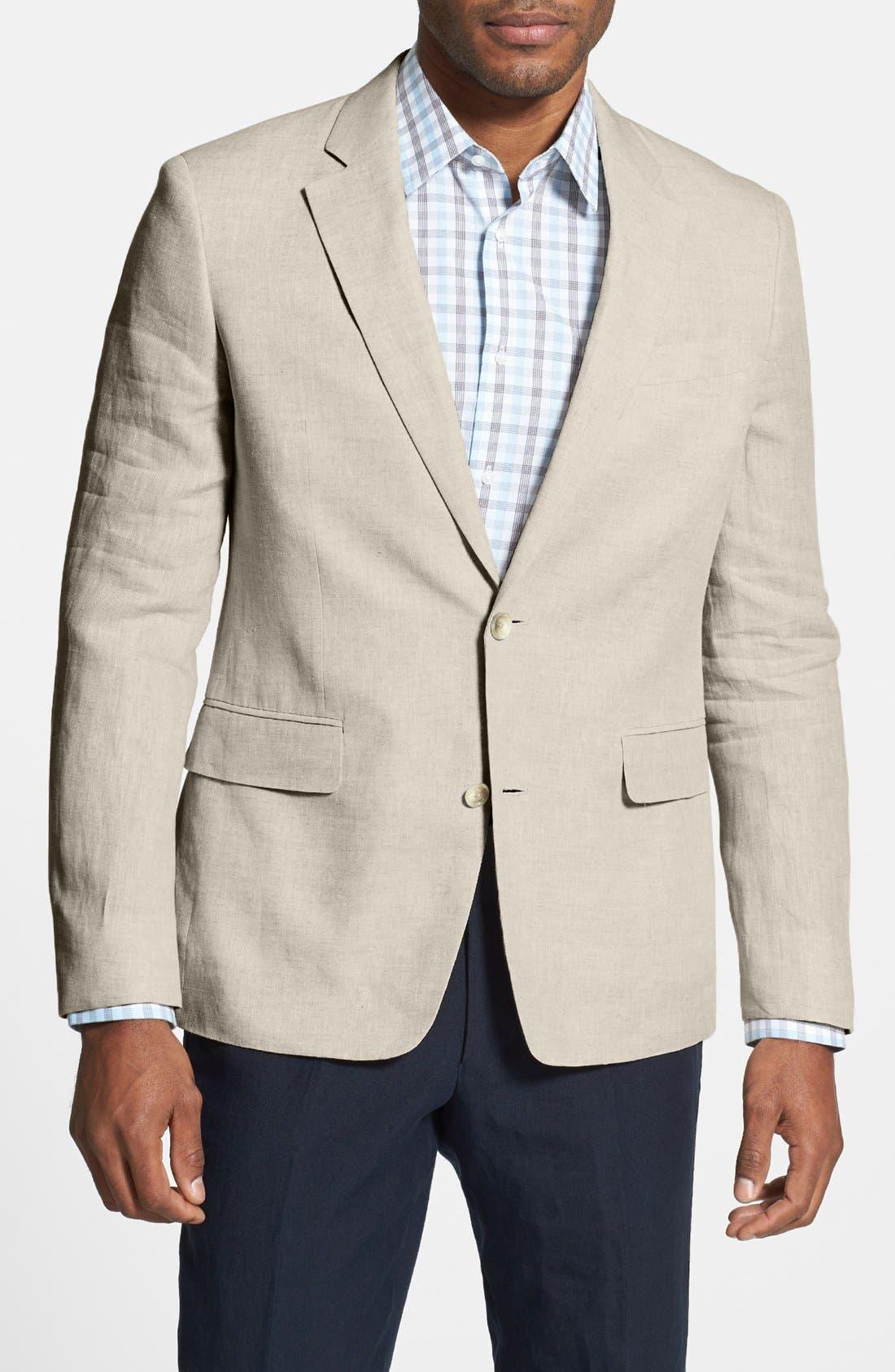 Main Image - Nordstrom Men's Shop Trim Fit Linen Blazer