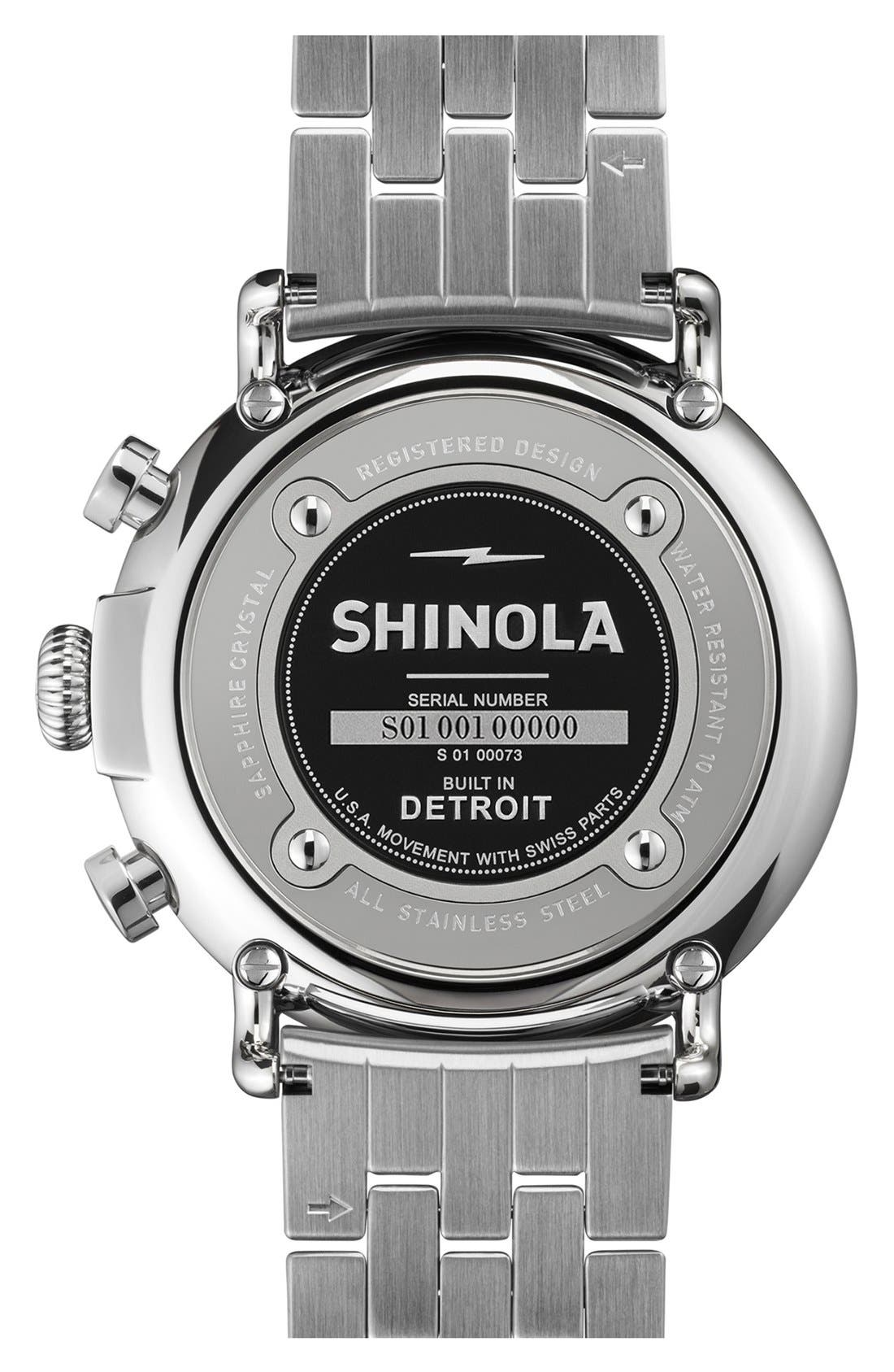 Alternate Image 2  - Shinola 'The Runwell Chrono - Sport' Bracelet Watch, 47mm