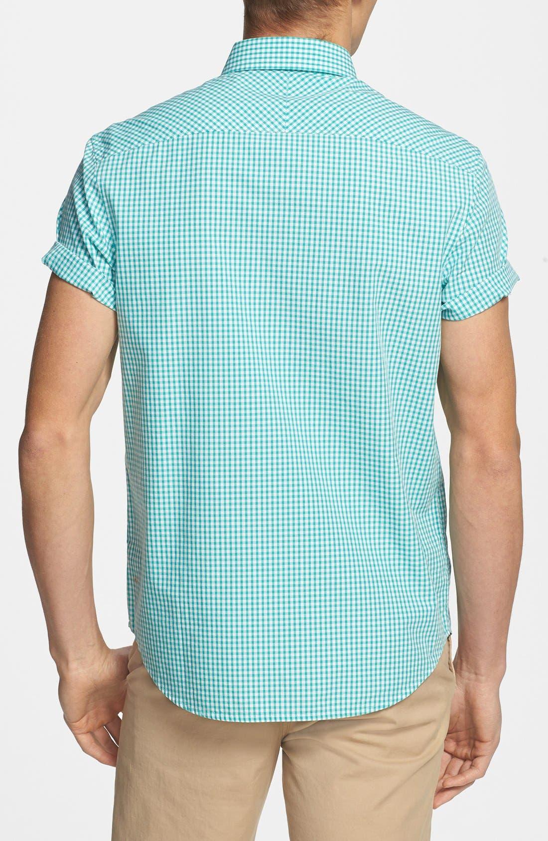 Alternate Image 3  - Original Penguin Short Sleeve Gingham Shirt